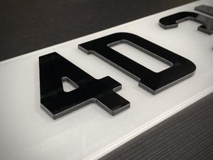 4D 3mm Number plates