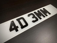 Load image into Gallery viewer, 4D 3mm Number plates