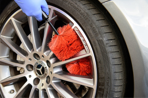 Professional Red & Black Alloy Wheel Brush Large