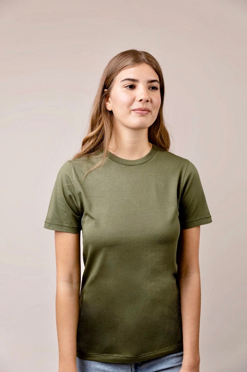 Lauren khaki round neck short sleeve t-shirt