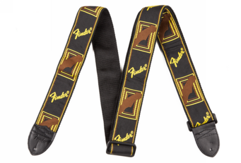 Monogrammed Strap / Yellow + Brown