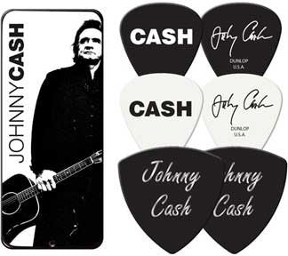 Johnny Cash Collectable Pick Tin & Picks