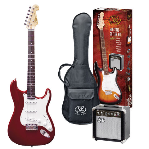 4/4 Guitar Package Candy Apple Red
