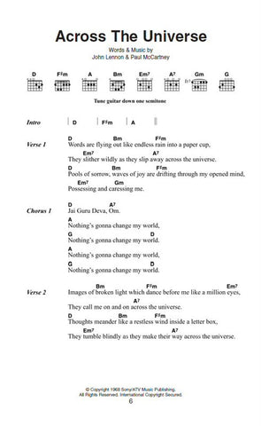 The Beatles Lyrics Chords Mona Vale Music