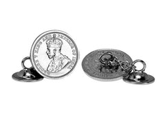 George V Hong Kong five cent coin cufflinks