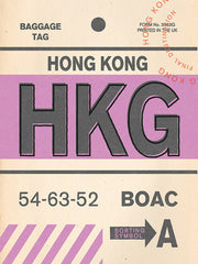 Hong Kong Luggage Tag Print
