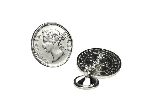 Victoria five cent coin cufflinks