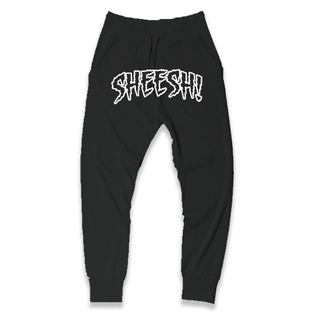 SHEESH! Joggers (Black+White)