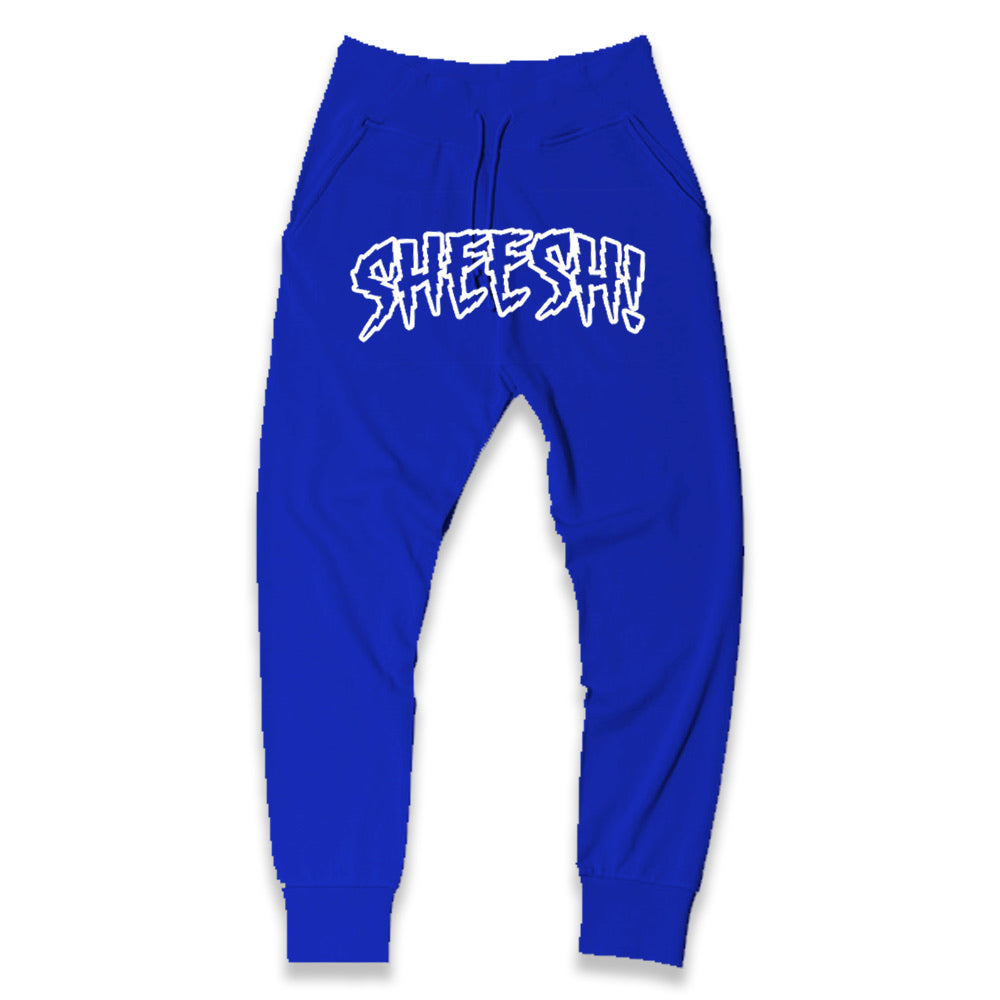 SHEESH! Joggers (Blue+White)