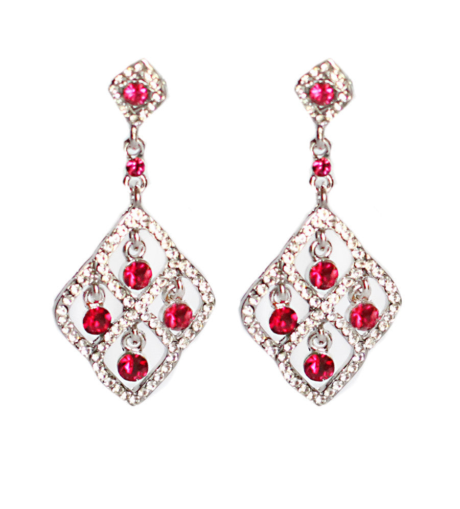 Fuschia Diamond Earrings