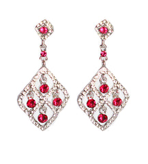 Fuschia Diamond Earrings - Perle Jewellery & Makeup  - 1