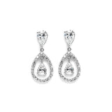 Cubic Zirconia Caged Teardrop Earrings - Perle Jewellery & Makeup  - 1