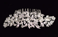 Amalia Crystal Bridal Comb - Perle Jewellery & Makeup  - 1