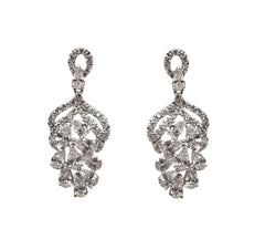 Angie Bridal Earrings - Perle Jewellery & Makeup  - 1
