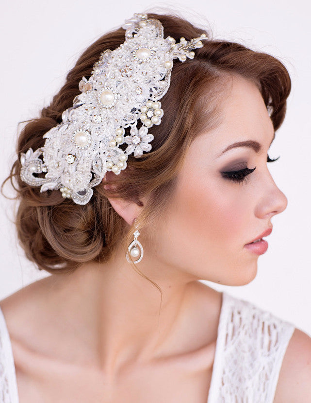 Ashley Bridal Headpiece - Perle Jewellery & Makeup  - 1