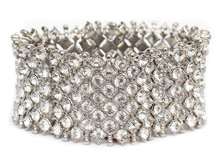 Austrian Crystal Mesh Stretch wedding Bracelet