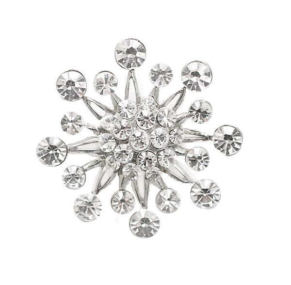 Starburst Crystal Bridal brooch Pin - Perle Jewellery & Makeup