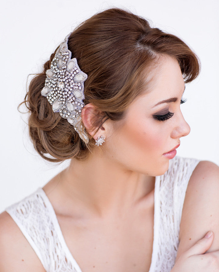 Celine Bridal Headpiece - Perle Jewellery & Makeup  - 1