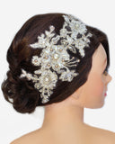 Gretel Lace & Pearl Headpiece - Perle Jewellery & Makeup  - 3