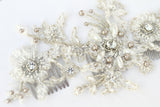 Gretel Lace & Pearl Headpiece - Perle Jewellery & Makeup  - 5