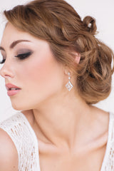 Gemma Bridal Earrings - Perle Jewellery & Makeup  - 2