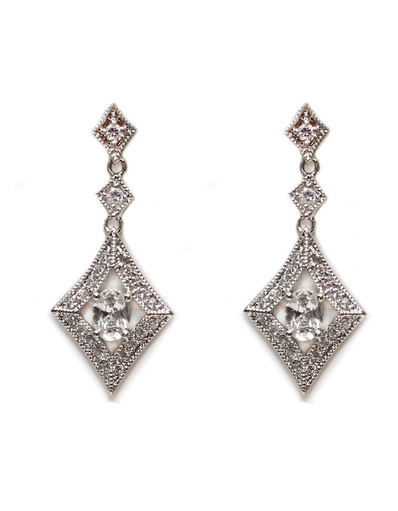 Gemma Bridal Earrings - Perle Jewellery & Makeup  - 1