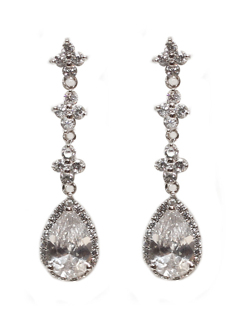 Georgina Bridal Earrings - Perle Jewellery & Makeup  - 1