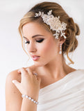 Georgina Bridal Earrings - Perle Jewellery & Makeup  - 3