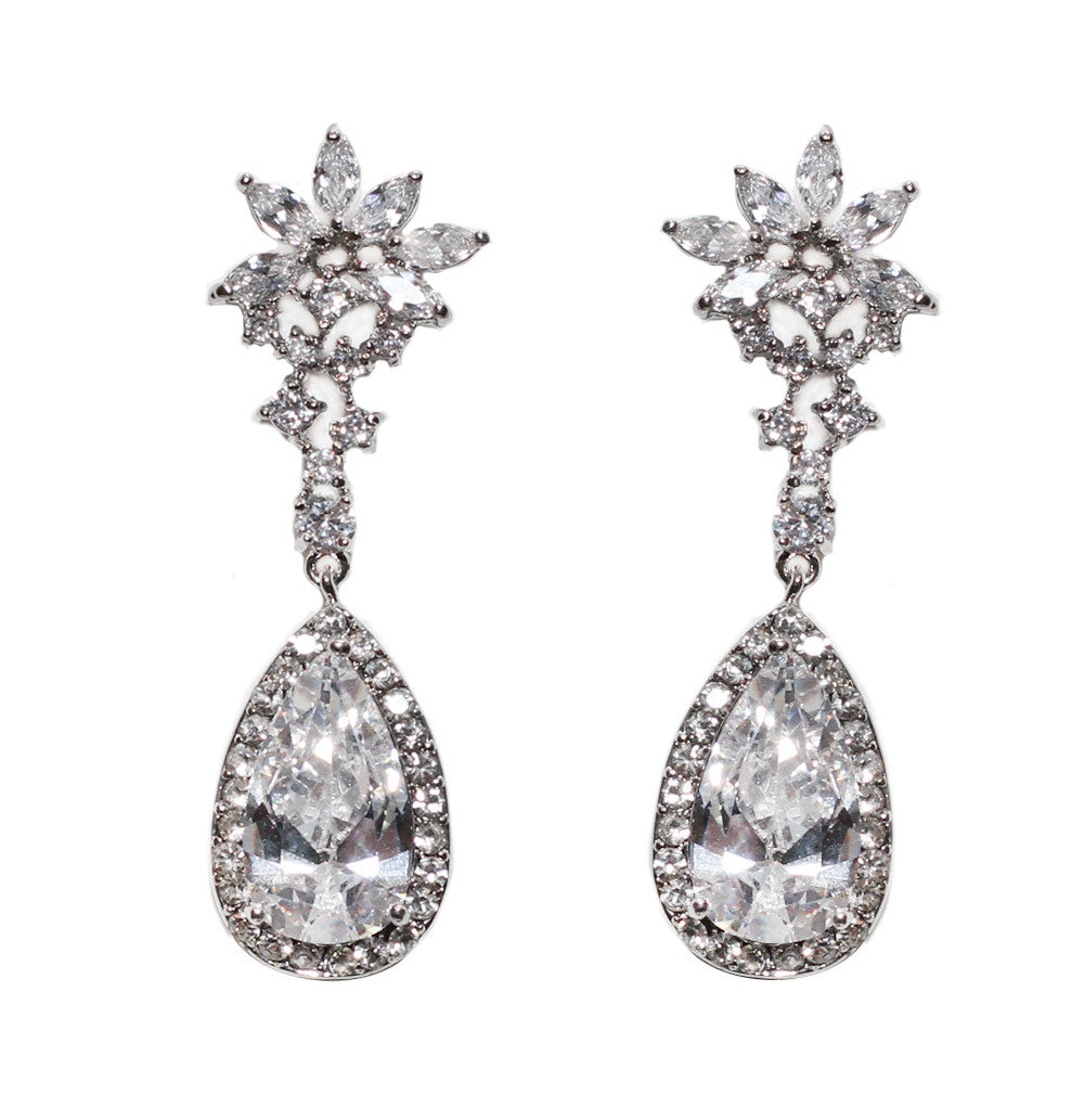 Hazel Bridal Earrings - Perle Jewellery & Makeup  - 1