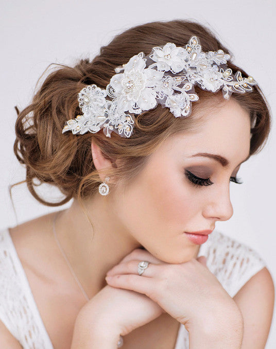 Paige Bridal Headpiece - Perle Jewellery & Makeup  - 1