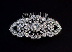 Lexi Crystal Bridal Comb - Perle Jewellery & Makeup  - 1