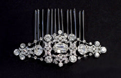 Maya Crystal Bridal Comb - Perle Jewellery & Makeup  - 1