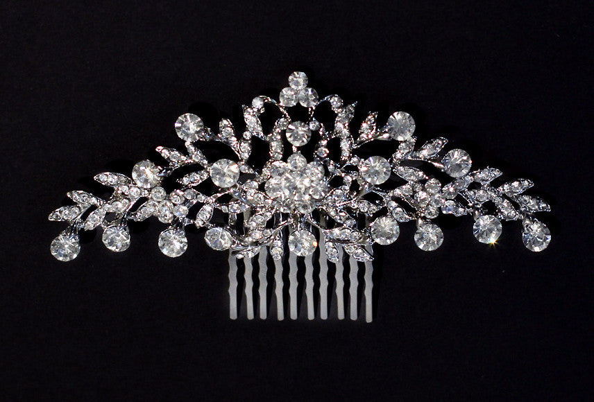 Monica Crystal Bridal Comb - Perle Jewellery & Makeup  - 1