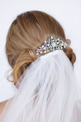 Monica Crystal Bridal Comb - Perle Jewellery & Makeup  - 2