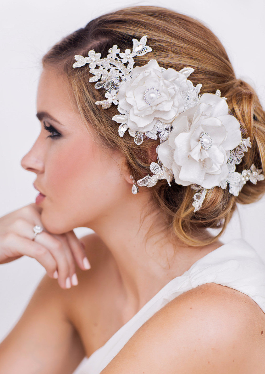 Elisa Bridal Headpiece - Perle Jewellery & Makeup  - 1