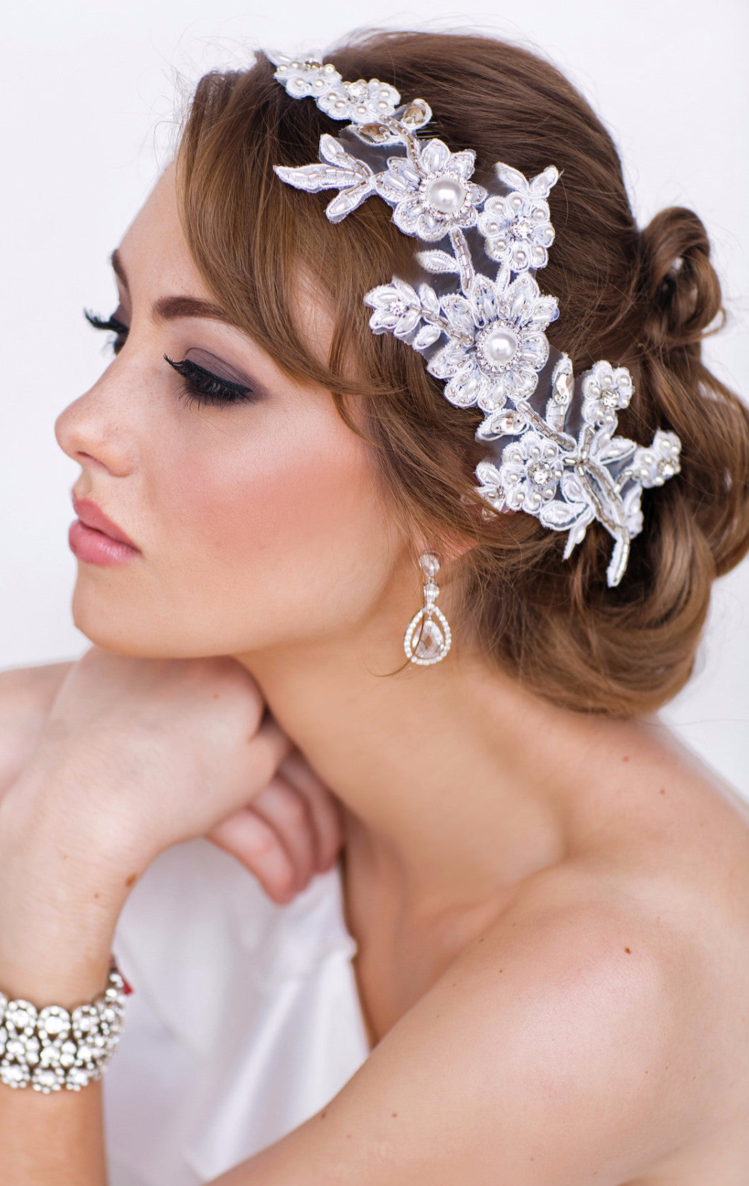 Avery Bridal Headpiece - Perle Jewellery & Makeup  - 1