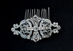 Ophelia Crystal Bridal Comb - Perle Jewellery & Makeup  - 1