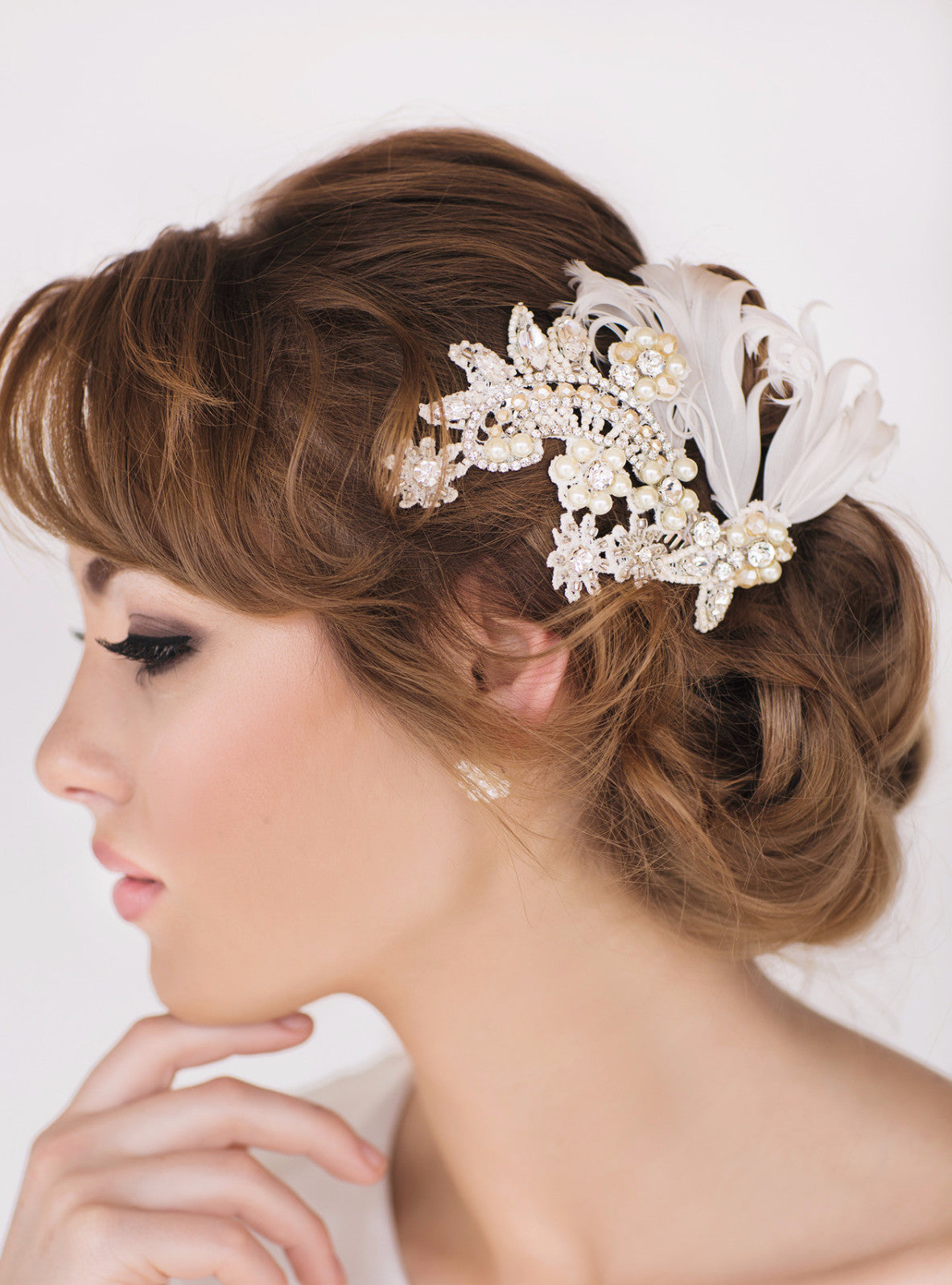 Scarlette Bridal Headpiece - Perle Jewellery & Makeup  - 1