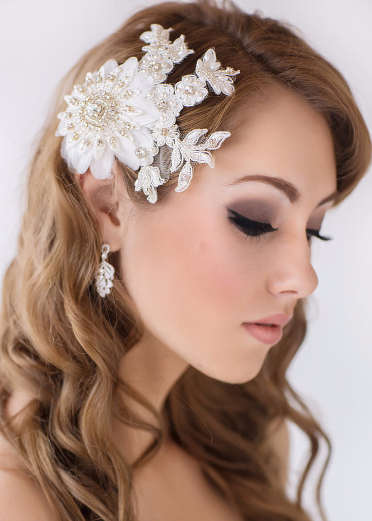 Skyla Bridal Headpiece - Perle Jewellery & Makeup  - 1