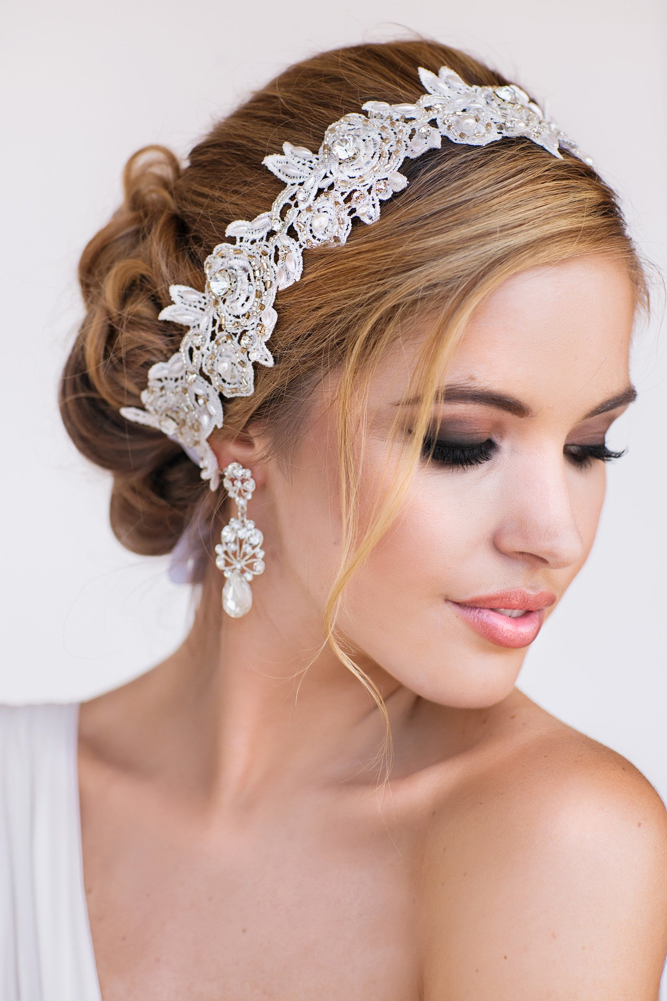 Tia Lace Bridal Headband - Perle Jewellery & Makeup  - 1