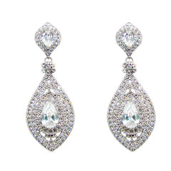 Art Deco Teardrop Earrings - Crystal - Perle Jewellery & Makeup  - 1