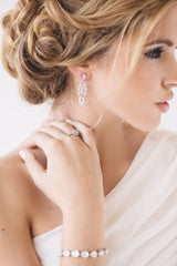 Willow Bridal Earrings - Perle Jewellery & Makeup  - 2