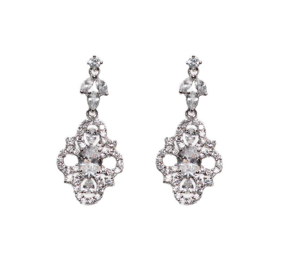 Zoe Bridal Earrings - Perle Jewellery & Makeup  - 1