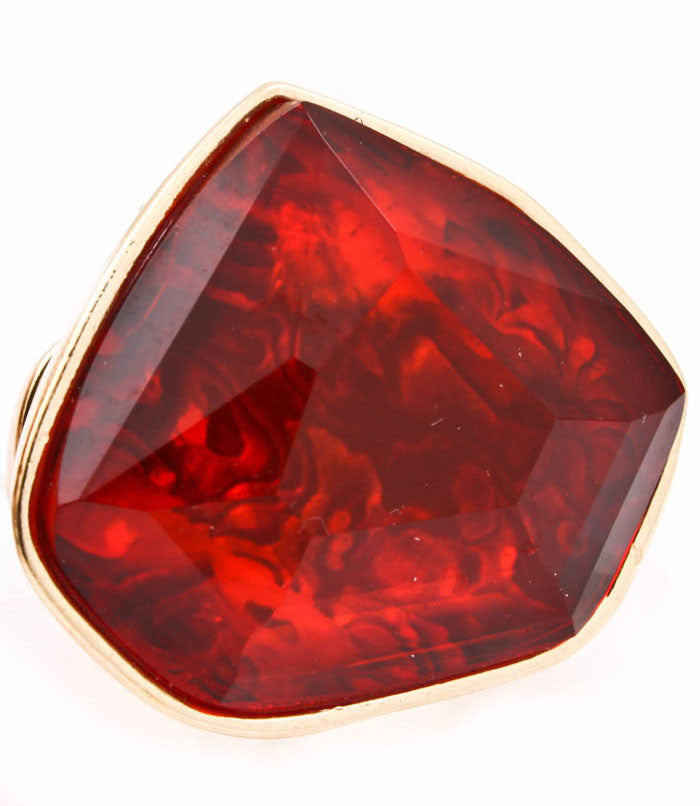 Red Lucite Ring