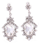 Baroque Crystal Pendant Earrings - Perle Jewellery & Makeup  - 1