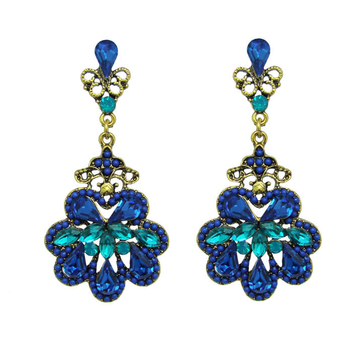 Dramatic Antique Floral Earrings