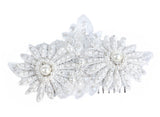 Daisy Pearl Bridal Haircomb - Perle Jewellery & Makeup  - 2