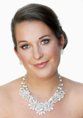 Nicole Bridal Lace Necklace - Perle Jewellery & Makeup  - 1
