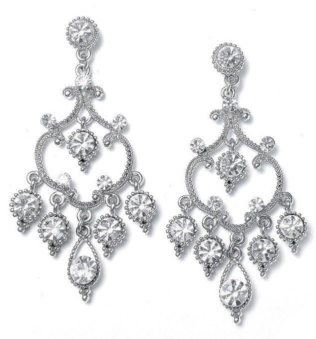 Crystal Vintage Chandelier Wedding Earrings - Perle Jewellery & Makeup