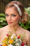Tangerine Beaded Headband - Perle Jewellery & Makeup  - 3